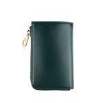 arround zipped wallet - Green