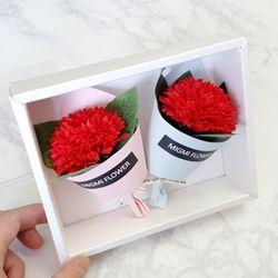 비누꽃 카네이션 set (선물포장)