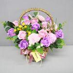 비누장미카네이션꽃바구니30-바이올렛
