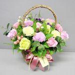 비누장미카네이션꽃바구니30-핑크