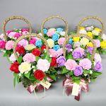 비누장미카네이션꽃바구니20