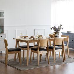 고메 와이드 6인 식탁 세트(의자6)