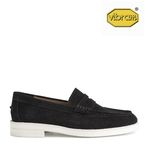 AMERICAN COW SUEDE PENNY LOAFERS(BLACK)