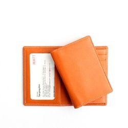 베지터블 슬림 투명 명함 카드지갑(오렌지)w17332