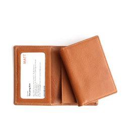 베지터블 슬림 투명 명함 카드지갑(브라운)w17335