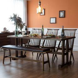 고메 리코 1800 식탁 세트(벤치+의자2)