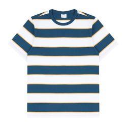 위씨 트리플 스트라이프 반팔 티셔츠 (블루)
