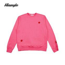 [HIANGLE][H003]장미 icon 맨투맨 - 핑크