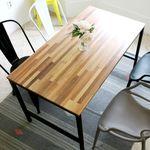 스크래치 빈티지무드 4인 원목 식탁 (의자 별도)