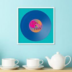 LP 메탈 액자 - lets funk