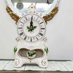 F42 꽃도자기 탁상시계 -특대