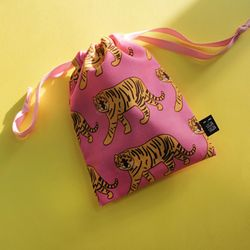 tiger string pouch