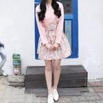 서리나래 예다움 핑크 숏 허리치마