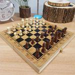 휴대용 원목 접이식 체스&체커
