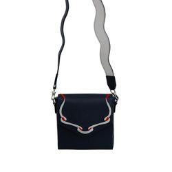 Sailor Ribbon Bag-Navy