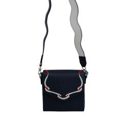 Sailor Ribbon Bag-Navy