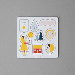 Baby magnet+checklist set-Thank you