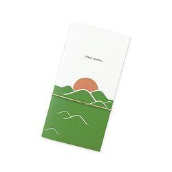 Travel journal-sunset green