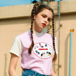 Burger Club T-Shirt-Pink