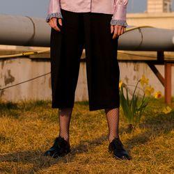 Wide Banding Pants-Black