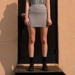 Shiny Pocket Mini Skirt-Silver