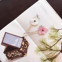 벚꽃 자개 머리꽂이
