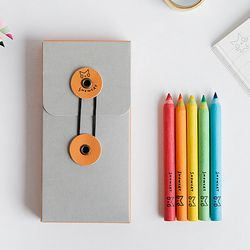 SNOWCAT MINI COLORED PENCIL SET - Orange