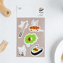 SNOWCAT EPOXY STICKER - FOOD