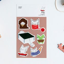 SNOWCAT EPOXY STICKER - PLAY