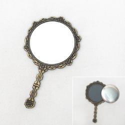 자수용 로즈 원형거울(청동)[1067]