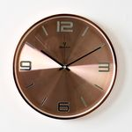 (kyos003)저소음 크롬벽시계 황동색 (4NBR)