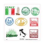 빈티지 여행 스티커(3M원단)