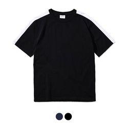 바리케이트 COMBINATION NO 프린트 티셔츠 - 블랙