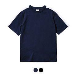 바리케이트 COMBINATION NO 프린트 티셔츠 - 네이비