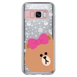 갤럭시S8 라인프렌즈 라이팅케이스 - CHOCO FACE