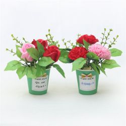 펠트친구 초록비누꽃화분만들기(꽃선택)비닐가방제외