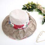 [더로라] 버킷햇 천모자 - 장미축제 화려한 꽃 H724