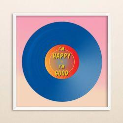 LP 메탈 액자 - I am happy