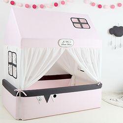 유아침대 범퍼하우스-핑크라떼L (A형 범퍼세트)