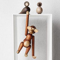 원목 원숭이 장식