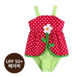 [베이비수영복] 핑크플라워원피스수영복(UPF50+)
