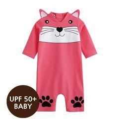 [베이비수영복] 마린캣츠(핑크)수영복(UPF50+)