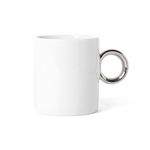white gold mug