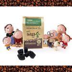 커피숯 커피찌꺼기로 만든 무공해 캠핑용숯 1KG