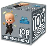 보스 베이비 큐브 직소 퍼즐 108조각 리틀 보스