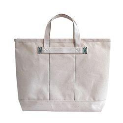 Brookly tote bag (Green stitch)