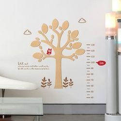 [우드스티커] 나무키재기 (반제품)