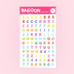 Balloon Alphabet Sticker - 벌룬 알파벳 스티커