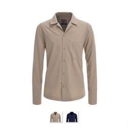 [쿨룩] 남성 반 오픈 버튼다운 솔리드셔츠 NDLS03