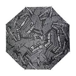 레터링 블랙 장우산 (UV차단자동우산)